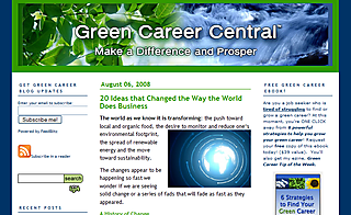 Green career central blog